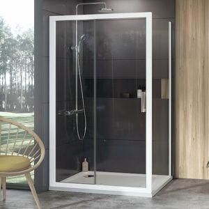 Boční zástěna ke sprchovým dveřím 80x190 cm Ravak 10° bílá 9UV40100Z1