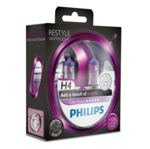 Philips H4 ColorVision Purple 12V 12342CVPPS2