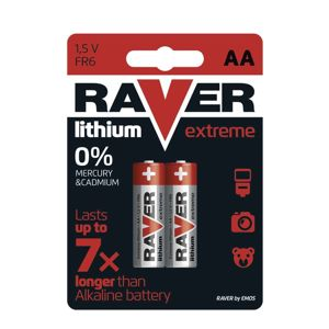 Lithiová baterie RAVER FR6 (AA), blistr