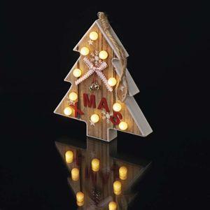 EMOS LED stromek dřevěný, 2×AAA, teplá bílá, časovač 1534207800 Teplá bílá
