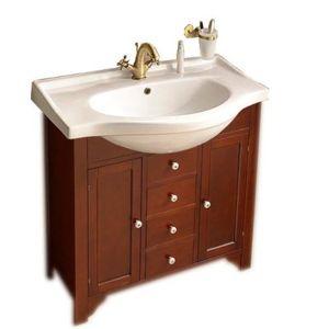 Koupelnová skříňka pod umyvadlo Gallo Wood Galanta 80x30 cm mahagon 1695