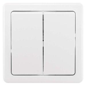 ABB Vypínač SWING dvojitý, bílý ř.5 3557G-05340 3143030100