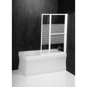 Polysan VENUS 2 pneumatická vanová zástěna 1060 mm, bílý rám, potištěné sklo,36127