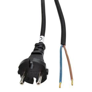 Solight flexo šňůra, 2x 1,5mm2, gumová, černá, 5m PF33