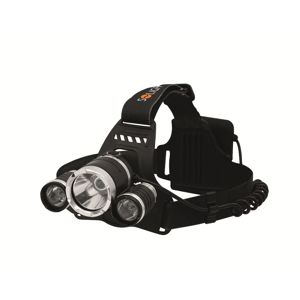 Solight LED čelová svítilna SUPER POWER, 900lm, 3x Cree LED, 4x AA WH23