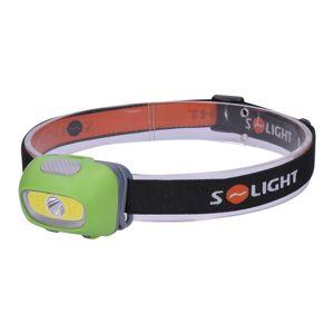 Solight LED čelová svítilna, 3W Cree plus 3W COB, 120lm, bílé plus červené světlo, 3x AAA WH24