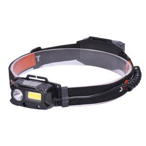 Solight LED čelová nabíjecí svítilna, 3W plus COB,150 plus 60lm, Li-ion WN30