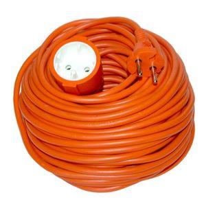 Solight prodlužovací kabel - spojka, 1 zásuvka, oranžová, plochá, 20m PS27