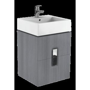 Koupelnová skříňka pod umyvadlo Kolo Twins 50x46x57 cm grafit stříbrný 89490000