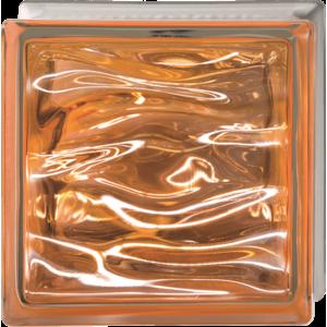 Luxfera Glassblocks Perla Ambra 19x19x8 cm sklo AQBQ19PAMB
