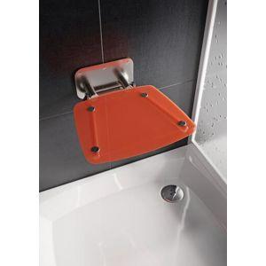 Sprchové sedátko Ravak OVO B sklopné š. 36 cm oranžová B8F0000053