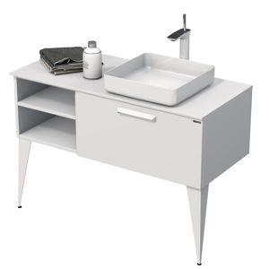 Koupelnová skříňka pod umyvadlo Naturel Luxe 110x36x50 cm bílá mat LUXE110PBMBU32
