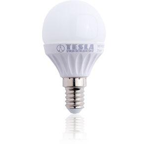 TESLA - LED žárovka mini BULB E14 3W 230V 250lm 180D 25.000 hod 3000K teplá bílá CRI(RA) 80 MG140330-1 Teplá bílá