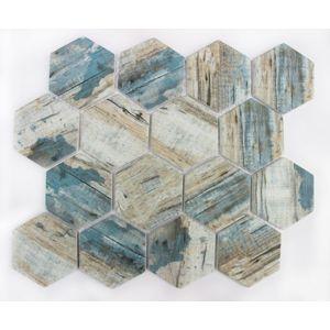 Skleněná mozaika Premium Mosaic blue 26x30 cm mat MOSV84HBL
