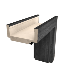 Obložková zárubeň Naturel 70 cm pro tloušťku stěny 7,5-9,5 cm jilm antracit pravá O1JA70P