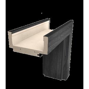 Obložková zárubeň Naturel 80 cm pro tloušťku stěny 7,5-9,5 cm jilm antracit pravá O1JA80P