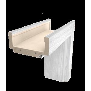 Obložková zárubeň Naturel 60 cm pro tloušťku stěny 12-14 cm borovice bílá levá O3BB60L