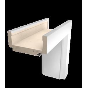 Obložková zárubeň Naturel 80 cm pro tloušťku stěny 14-18 cm bílá levá O3BF80L