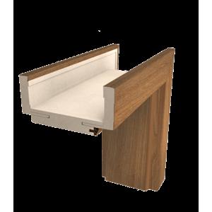 Obložková zárubeň Naturel 60 cm pro tloušťku stěny 12-14 cm ořech karamelový pravá O3OK60P