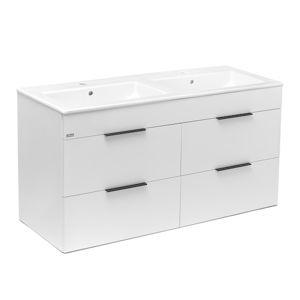 Koupelnová skříňka s umyvadlem Jika Plan 120x44,1x62,2 cm bílá H4536621763001