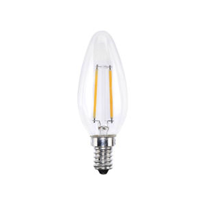 LEUCHTEN DIRECT LED Filament svíčka,E14, 2W 2700K