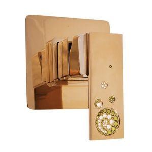 Sprchová baterie RAV SLEZÁK včetně podomítkového tělesa zlatá ROYAL1083Z