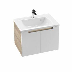 Koupelnová skříňka pod umyvadlo Ravak Classic 70x49 cm latte/bílá X000001091