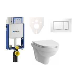 Závěsný set WC Laufen Pro Nordic + modul Geberit Kombifix s tlačítkem Sigma 30 (bílá) SIKOGE2H5