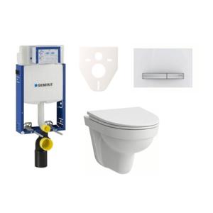 Závěsný set WC Laufen Pro Nordic + modul Geberit Kombifix s tlačítkem Sigma 50 (alpská bílá) SIKOGE2H8