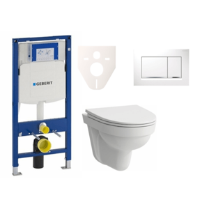 Závěsný set WC Laufen Pro Nordic + modul Geberit Duofix s tlačítkem Sigma 30 (bílá) SIKOGES3H5