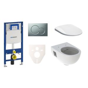 Závěsný set WC Geberit Selnova + modul Geberit Duofix s tlačítkem Sigma 01 (chrom mat)