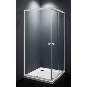 Sprchový kout čtverec 90x90x185 cm Multi Basic bílá SIKOMUQ90T0