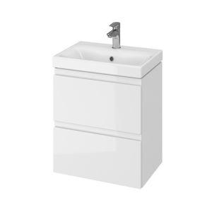 Koupelnová skříňka s umyvadlem Cersanit Dormo 50x34,5x63 cm bílá lesk SIKONCMO006BL