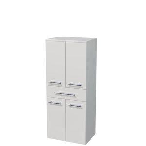 Koupelnová skříňka vysoká Naturel Ratio 50x122x35 cm bílá lesk SS501Z4D9016G