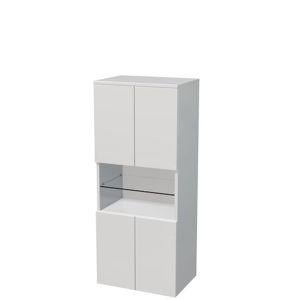 Koupelnová skříňka vysoká Naturel Ratio 50x122x35 cm bílá mat SS50OP4DPU9016M