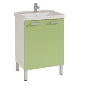 Koupelnová skříňka s umyvadlem Naturel Vario 65x48,5 cm zelená VARIO65BIAV