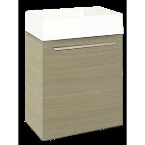 Koupelnová skříňka s umyvadlem Naturel Verona 46x26 cm světlý dub VERONA46LO