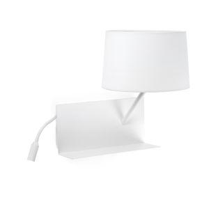 FARO HaY bílé nástěnné svítidlo s LED pravou lampičkou na čtení 28414