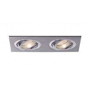BPM Vestavné svítidlo Aluminio Plata, kart.hliník 6LEDx3W, 230V 3012LED2.D40.3K