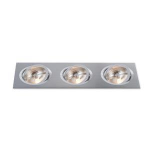 BPM Vestavné svítidlo Aluminio Plata, kartáč.hliník 27LEDx3W, 230V 3052LED.D40.3K