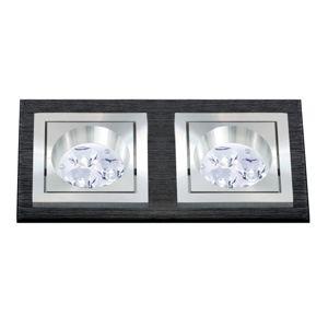 BPM Vestavné svítidlo Aluminio Negro, černá, 6LEDx3W, 230V 4900 3068LED2.D40.3K