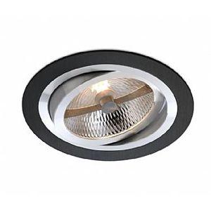 BPM Vestavné svítidlo Aluminio Negro, černá, 9LEDx3W, 230V 4904 3073LED.D40.3K