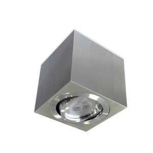 BPM Stropní svítidlo Aluminio Plata kartáčovaný hliník GU10 50W 230V 8016.01