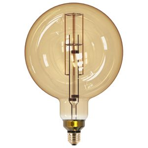 CENTURY LED TWIST FILAMENT GLOBE 200mm EPOCA DECO VINTAGE 8W E27 2200K 806Lm 360d DIMM 200x305mm IP20 CEN INVG200-082722 Čirá