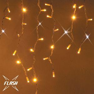 decoLED LED světelné krápníky - FLASH, 3x1m, teple bílá, 174 diod