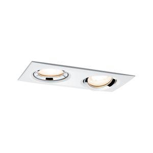 Paulmann vestavné svítidlo LED Nova IP65 rechthranaté 2x7W GU10 bílá/chrom 1ks sada nastavitelné 929.02 P 92902