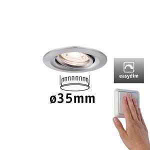 PAULMANN LED vestavné svítidlo Nova mini Plus EasyDim výklopné 1x4,2W 2700K kov kartáčovaný 230V 929.72