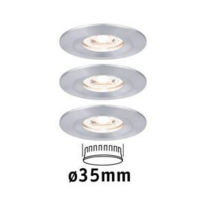 PAULMANN LED vestavné svítidlo Nova mini nevýklopné IP44 3x4W 2700K hliník broušený 230V 943.05