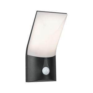PAULMANN Venkovní nástěnné svítidlo Adya antracit IP44 230V teplá bílá pohybové čidlo 944.02