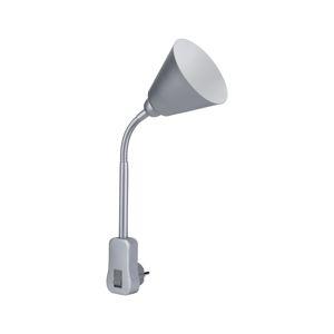PAULMANN svítidlo do zásuvky Junus Flexarm E14 šedá vypínač na lampě 954.29 P 95429 95429
